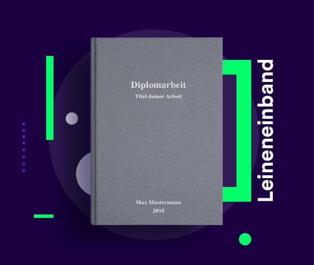 Hardcover Leinenbuch für deine Diplomarbeit