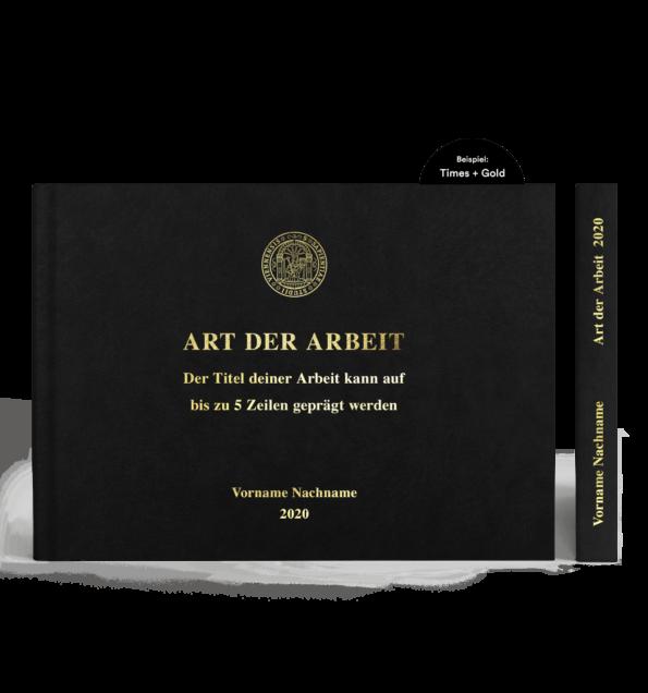 A4 Hardcover Querformat mit Prägung